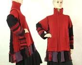Zip Front Cardigan Sweater Womens Large Plus size Tunic Sweater