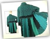 Turquoise cardigan Large sweater long womens tunic jacket