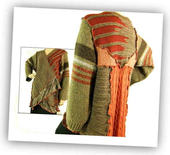 WR188 Cardigan wrap sweater open womens sweater Large extra large