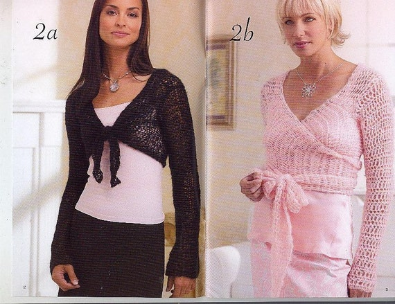 PATONS LADIES BALLET TOPS SHAWLS Crochet Knitting Patterns