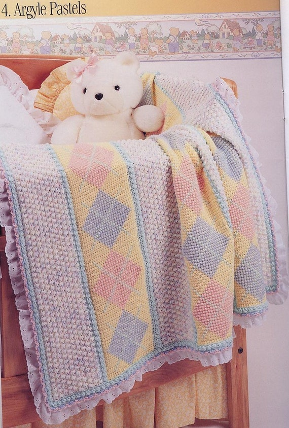Crochet Pattern Baby Blanket Duck : Red Heart ARGYLE PONIES DUCKS BABY BLANKETS by ThePatternStop