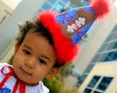 Boys First Birthday Football Hat - first birthday, second birthday, third birthday, fourth birthday, fifth birthday