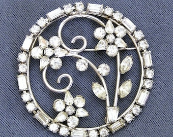 Phyllis Sterling Flower Brooch