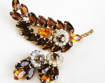 Amber and Topaz Demi Parure