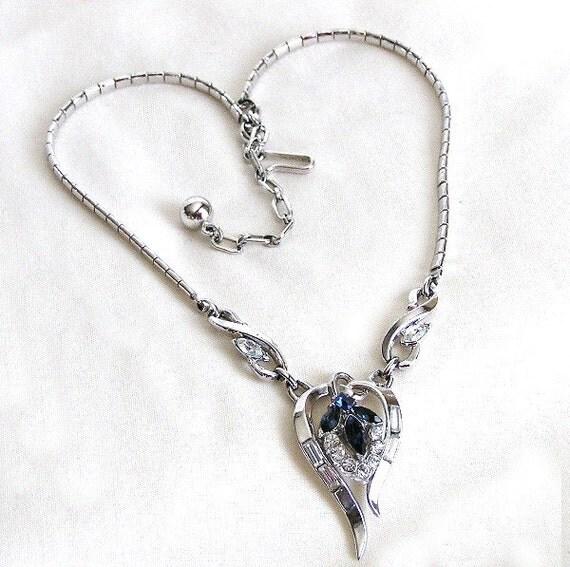 Trifari Sapphire Glass Necklace 1953