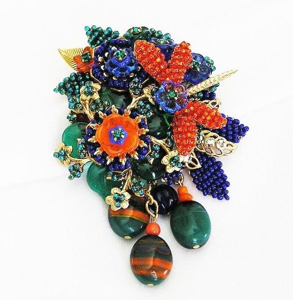 Stanley Hagler Ian St Gielar Dragon Fly Floral Brooch