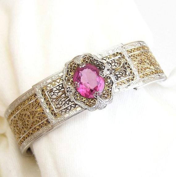 PSCO Pink Art Deco Bracelet