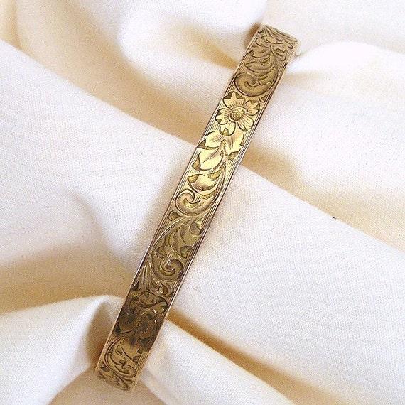 Victorian Hand Chased Bracelet c.1890