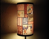 Vintage Christmas Lampshade Lamp shade - holiday decor