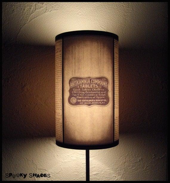 Vintage Medicine Lampshade lamp shade