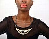 Geometric navajo birch necklace short