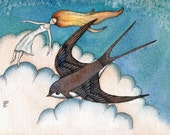 The Swallow Dream, Fine Art Print