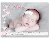 "Birth Announcement - ""Sweet Valentine"" - a printable photo card (No. 11015)"