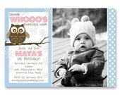 Guess Whooo's Having a Birthday... an owl themed seasonal birthday invite perfect for any age