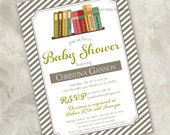 """Baby Shower Invitation - """"Story Time"""" - a retro-inspired storybook invite"""