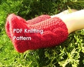 PDF Knitting Pattern - Knit Socks with Irish Aran Cables for an 18 Inch American Girl Doll
