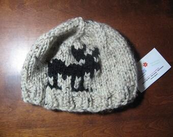 Oatmeal Tweed Moose Hat