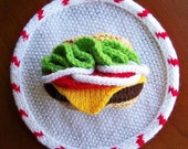 Father's Day - Hamburger Cheeseburger Wall Decoration - Wall Decor - Kitchen Decor - Home Decor - READY TO SHIP - Father Dad Man Dude