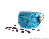 Coffee \/ Tea Cup Cozy - Blue