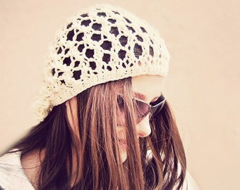 Summer Hat, Boho Hat, Sun Hat, Summer Beanie Hats, Knit Hat, Knit Summer Hat, Slouchy Beanie Women, Slouchy Hat, Slouch Hat, Slouch Beanie