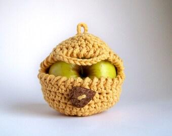 Apple Cozy Crochet Pattern, Apple Cover, Fruit Cozy Pattern, Apple Sweater, Easy Crochet Patterns, Beginner Crochet Patterns