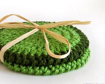Crochet PATTERN, Crochet Coasters Pattern, Coaster Pattern, Easy Crochet Pattern, Beginner Crochet Pattern, Instant Download