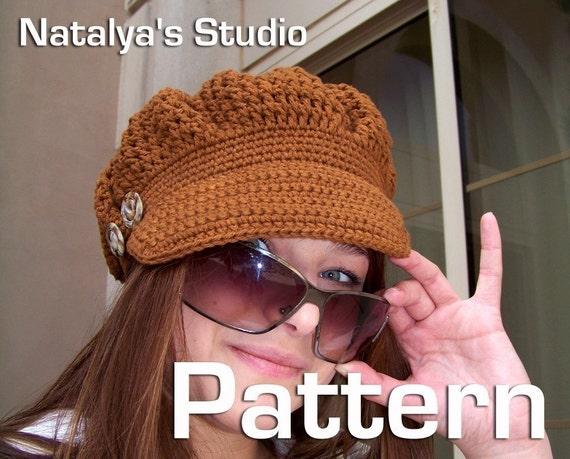 free crochet pdf pattern cap with visor