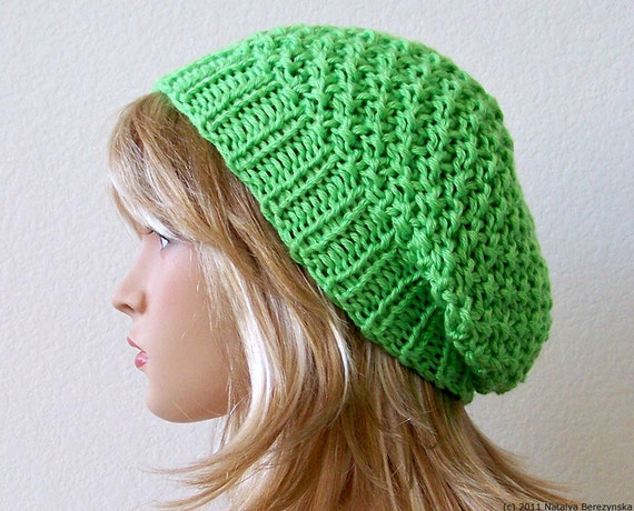 Greenery Slouchy Beanie Hat Chunky Knit Hat Knit Slouchy Hat Mens Slouchy Beanie Mens Slouch Beanie Knit Slouchy Beanie Hand Knit Slouch Hat