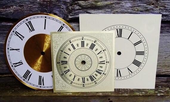 Vintage Clock Face Trio Metal Instant Collection
