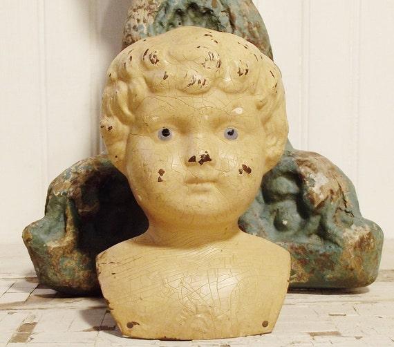 Vintage Doll Head German Minerva