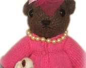 Lovley DORIS DAY Bear and her Accessories Knit Pdf Email PATTERN