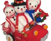 The Snow FAMILY at CHRISTMAS Pdf Email Knit PATTERN