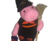 Hippo Loves Halloween PDF Email Knit Pattern