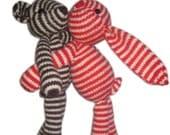 Bubu Bear the striped TEDDY PDF Email Knit PATTERN