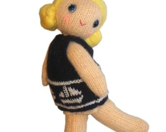 Lolvely SAILOR Girly Doll with Fishbowl PDF Email Knit PATTERN