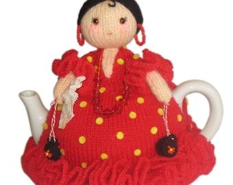 OLE OLE Spanish Ballerina TEA Cosy Pdf Email Knit Pattern