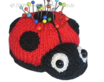 LADYBUG PINCUSHION Pdf Email Knit PATTERN