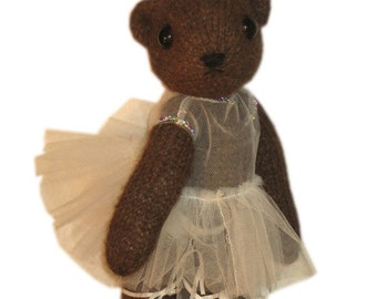 Cutest DANCER BEAR from the Bolshoi Ballet Moscow Knit PDF email Pattern