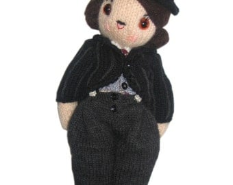 Adorable CHARLES CHAPLIN PDF Email Knit Pattern