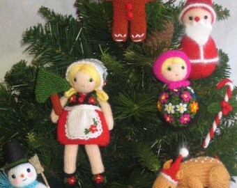 CHRISTMAS ORNAMENTS Kit Pdf Email Knit PATTERN