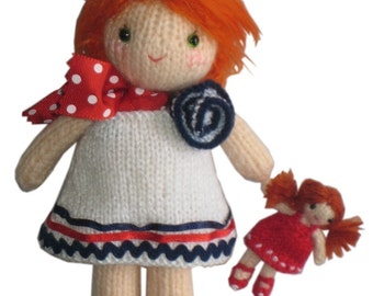 Sweet LUCY with her DOLL Pdf Email Knit PATTERN