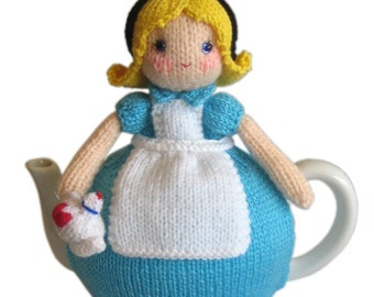 ALICE in WONDERLAND Tea Cosy pdf Email Knit PATTERN