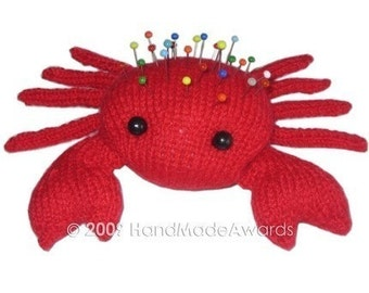 The RED CRAB Pincushion Pdf Email Crochet PATTERN