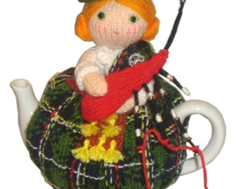 The Girl from Scotland Tea Cosy PDF Email Knit PATTERN