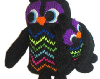 Mom OWL and her Baby Pdf Email Knit PATTERN