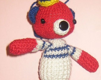 Sailor Red BEAR Pdf Email CROCHET PATTERN