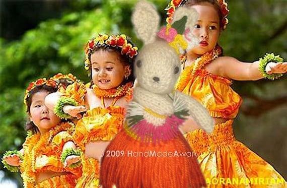 HawaiIan Bunny ALOHA Knit Pdf EMAIL Knit PATTERN