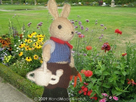 William Bunny our gardener PDF Email  KNIT PATTERN
