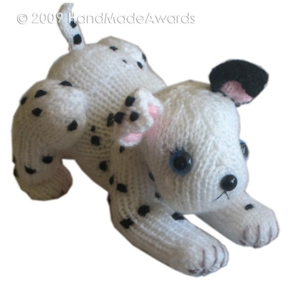DALMATIAN Puppy Dog Pdf Email Knit PATTERN from HandMadeAwards on Etsy Studio