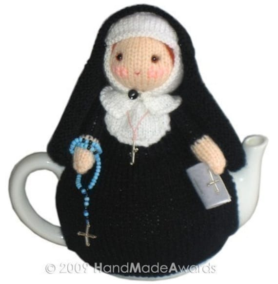 MARY NUN from The VATICANO Tea Cosy Pdf Email Crochet Pattern